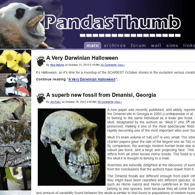 picture of pandasthumb.org
